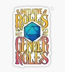 Pegatina Iniciativa no roles de género