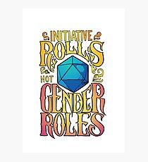 Lámina fotográfica Iniciativa no roles de género
