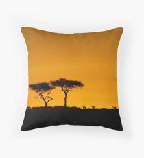 Sunset over the Masai Mara Throw Pillow