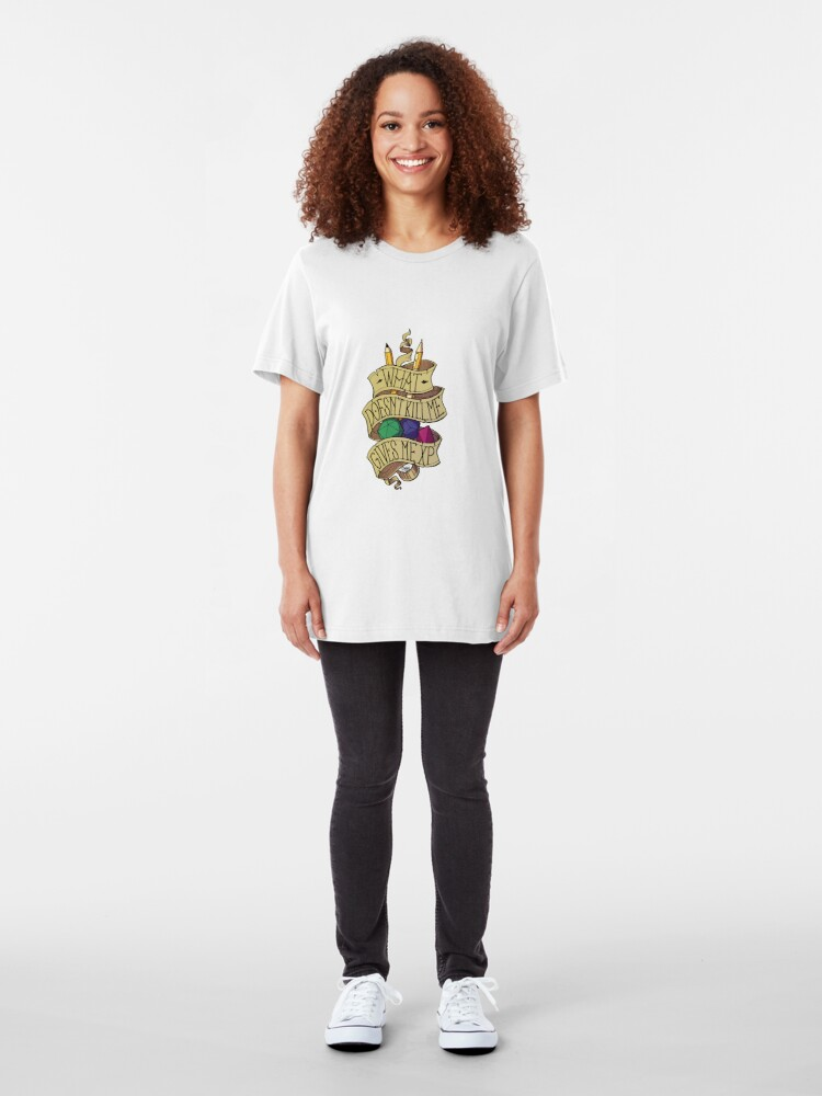 Alternate view of What doesn't Kill me Slim Fit T-Shirt