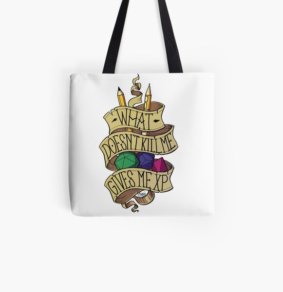 What doesn't Kill me All Over Print Tote Bag