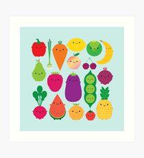 5 A Day Fruit & Vegetables Art Print