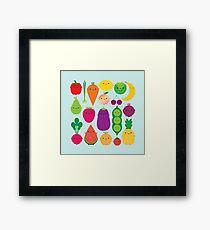 5 A Day Fruit & Vegetables Framed Print