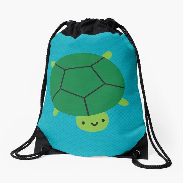 Happy Turtle Drawstring Bag