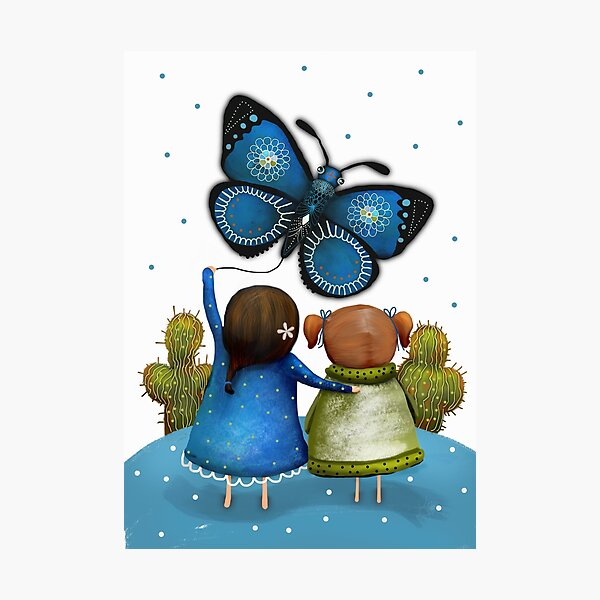 Butterfly Kite Photographic Print