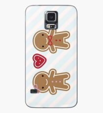 Cookie Cute Gingerbread Couple Case/Skin for Samsung Galaxy