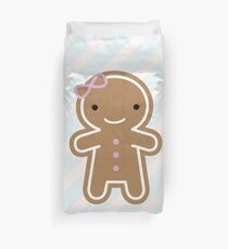 Cookie Cute Gingerbread Girl Duvet Cover