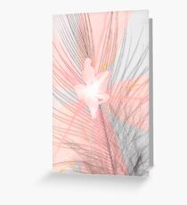 Pink cassia with feather Greeting Card