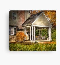 A side porch Canvas Print