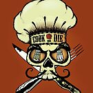 Cook or die!Chef's skull by mangulica