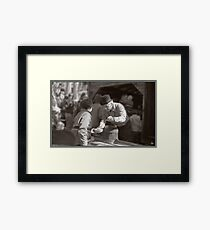 Sugaring Off with Uncle Harry Framed Print
