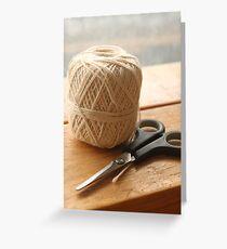 String & Scissors  Greeting Card