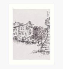 Italy Sketch 1  Art Print