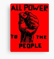 ALL POWER TO THE PEOPLE Canvas Print