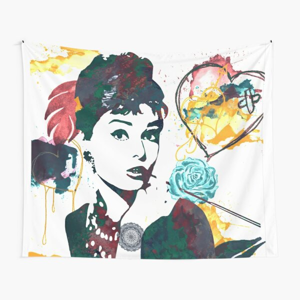 Audrey Hepburn nature colours Tapestry