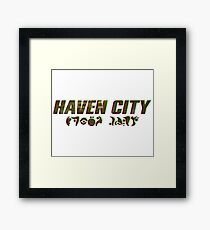 Haven City Framed Print