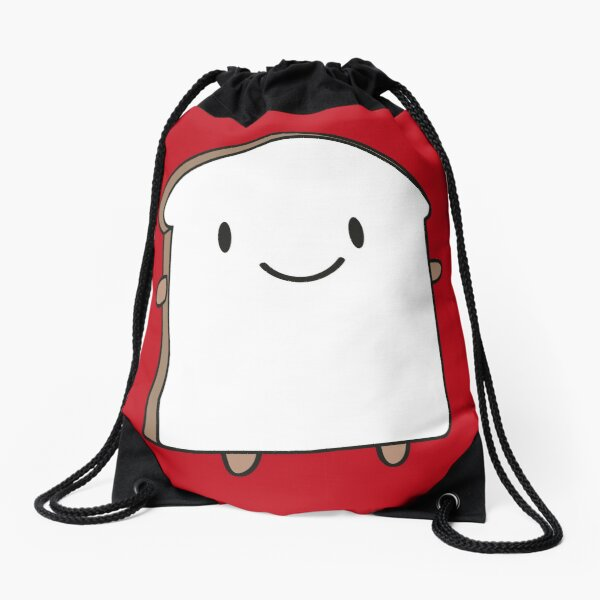 Happy Bread Slice Drawstring Bag