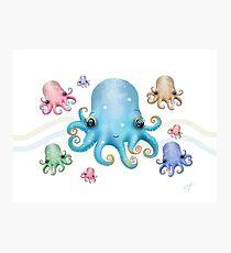 Rainbow Octopus Photographic Print