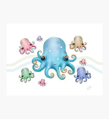Rainbow Octopus Photographic Print