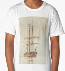 Henry Scott Tuke, The old windjammer at rest,  Long T-Shirt