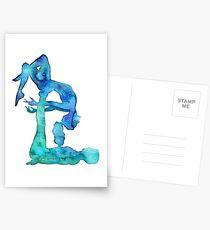 Acro Yoga couple Postcards