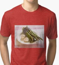 Asparagus and Garlic Tri-blend T-Shirt