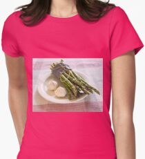 Asparagus and Garlic Womens Fitted T-Shirt