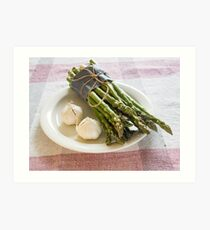 Asparagus and Garlic Art Print