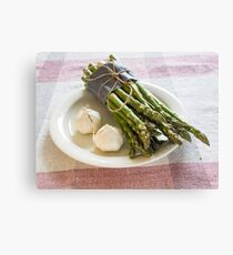 Asparagus and Garlic Canvas Print