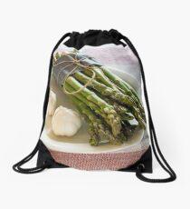 Asparagus and Garlic Drawstring Bag