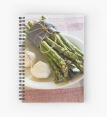 Asparagus and Garlic Spiral Notebook