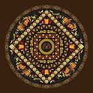 Thanksgiving Icons Mandala by Valerie Hartley Bennett