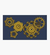 Woven Clockwork Photographic Print