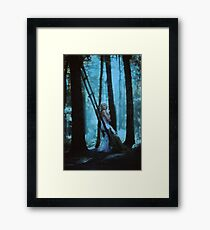 forest lights Framed Print