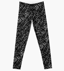 Linear Abstract Black and White Leggings