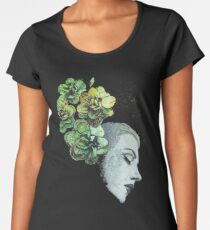 Obey Me (flower girl portrait, spray paint graffiti painting) Women's Premium T-Shirt
