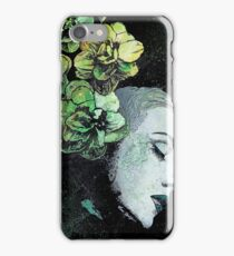 Obey Me (flower girl portrait, spray paint graffiti painting) iPhone Case/Skin