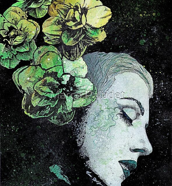 Obey Me (flower girl portrait, spray paint graffiti painting) by kiss-my-art