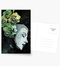Obey Me (flower girl portrait, spray paint graffiti painting) Postcards