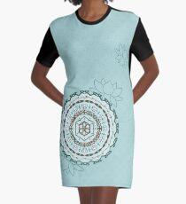 Lotus Weave Graphic T-Shirt Dress