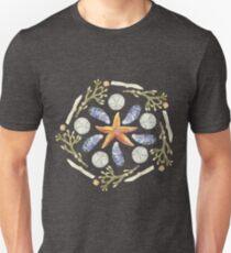 Tide Pool Beach Mandala 3 - Watercolor Unisex T-Shirt