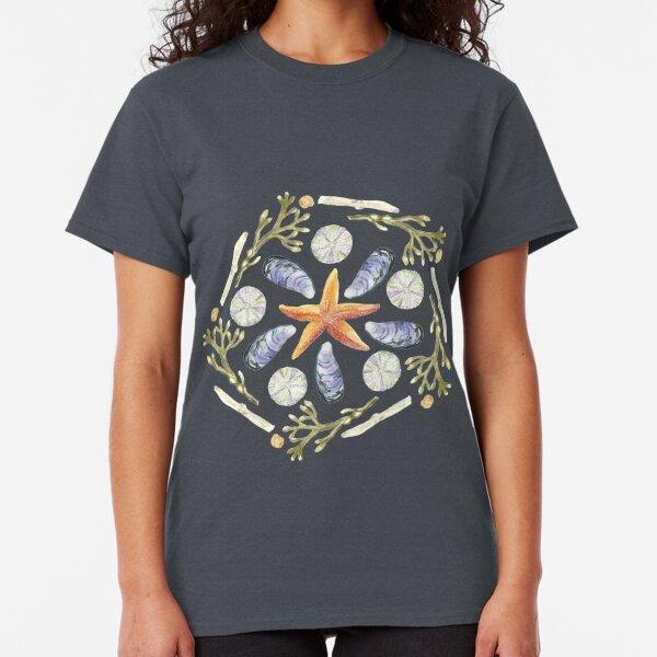 Tide Pool Beach Mandala 3 - Watercolor - Plum Classic T-Shirt