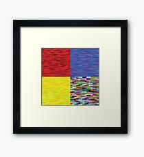 multicolored backgrounds Framed Print