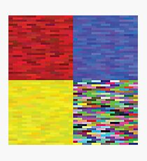 multicolored backgrounds Photographic Print