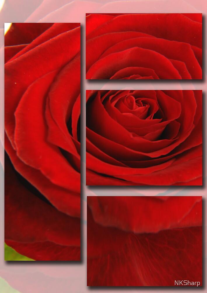 Artistic 3d Red Rose. by NKSharp