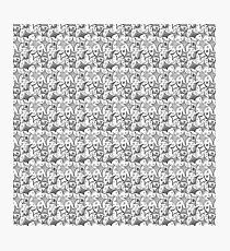 black-and-white pattern Photographic Print