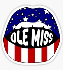 Ole Miss Lips Sticker