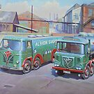 Albion Sugar Fodens at Rochester depot. by Mike Jeffries