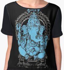 Lord Ganesha Hindu Elephant headed God Chiffon Top