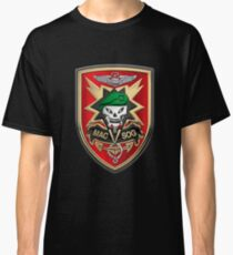 Military Assistance Command, Vietnam Studies and Observations Group - MACV-SOG Patch over Black Velvet Classic T-Shirt